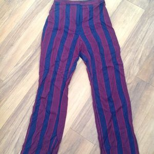 Express High Waisted Striped Pant